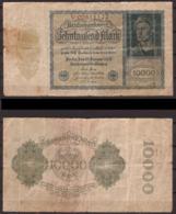 Weimarer Republik , Infla , 10 000 Mark , 1922 , RB-69 B , Vg - 1918-1933: Weimarer Republik