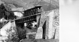 PONT De La RAILLERE: PN 0,431-superbe Phoyo Cartonnée De 17x12,5cm-Ligne Cauterets-La Raillere Le Pont Metalliquede 17m - Gares - Avec Trains