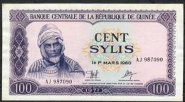GUINEA P19 100 SYLIS 1971 #AJ    AU-UNC - Guinee