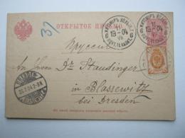 1904 , Ganzsache  Aus Shitomir Nach Deutschland - 1857-1916 Empire