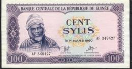 GUINEA P19 100 SYLIS 1971 #AF    AU-UNC - Guinee