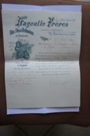 Commande-1896-Lagoutte Freres-Dijon-vins Fins De Bourgogne-clos Croix Blanche Propriete De La Maison A Fixin - Frankrijk
