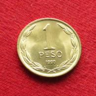 Chile 1 Peso 1990 KM# 216.2 Lt 318 Chili - Chili
