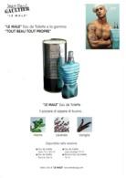 "Grande Carte (15 X 21 Cm) ITALIE - Jean-Paul GAULTIER  ""LE MALE""  - Perfume Card Italy - Duftkarten"