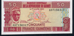 GUINEA   P29a   50   FRANCS    1985    UNC. - Guinee