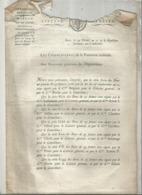 JC , Trésorerie Nationale, AN 7, 1798, Liste Des Signatures Des Bons Au Porteur De 25 Francs , Frais Fr 1.95 E - Décrets & Lois