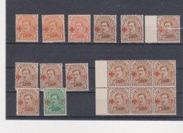 Petit Lot** 151/153 - Tous ** - 1914-1915 Croix-Rouge
