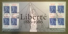 Bloc De 8 Timbres / Centenaire Liberté 1886 - 1986 // Usa Fdc - Unabhängigkeit USA