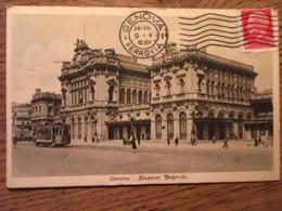 Cpa, Genova, Genoa, Stazione Brignole, Animée, Tramway, Etc, éd Cesare Capello, écrite En 1936 - Genova