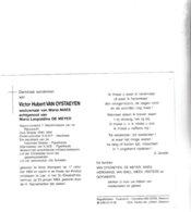 RIJKSWACHTER V.VAN OYSTAEYEN °VORST (Kempen) 1905 +LIER 1993 (M.MAES - L.DE MEYER) - Images Religieuses