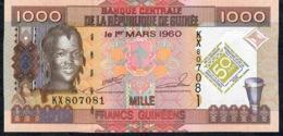 GUINEA P43 1000 FRANCS 2010 COMMEMORATIVE UNC. - Guinee