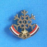 1 BROCHE //   ** E.S.F / ÉCOLE DU SKI FRANÇAIS / FLOCON 1 ÉTOILES ** . (Decat Paris) - Wintersport