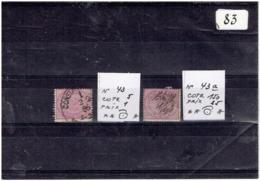 NR 43 ET 43a Cote 155 Oblitérés - Used Stamps