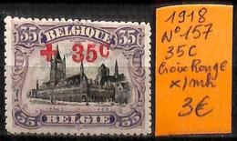 NB - [830887]TB//*/Mh-Belgique 1918 - N° 157, 35c, Croix-Rouge, Organisations, Eglises Et Cathédrale - Cruz Roja