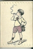 Mini Calendrier Almanach 1924 Illustrateur Fumeur Cigarette Bijou Tabac - Calendars
