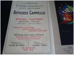 Cappiello.SUPERBE LIVRET DE IMPRIMERIE VERCASSON DE PRESENTATION DES AFFICHES DE CAPPIELLO.IL Y A 6 AFFICHES .RARE - Cappiello