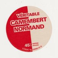 F/ETIQUETTE DE CAMEMBERT HUTIN CONDE SUR SARTHE 61 G - Quesos
