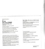 RIJKSWACHTER J.D'HONDT °VLISSEGEM 1895 +WOUMEN 1981 (J.VANCOILLIE) - Images Religieuses