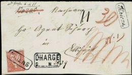 "Ca. 1862 "" KRIENS "" , Selt. Ra.  - Brief-Vorderseite -, A2591 - Poststempel"