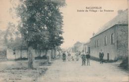 80 - SALLENELLE - Entrée Du Village - La Fontaine. Animée. - Autres Communes