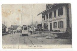 23554 - Station De Savigny Tram (attention Carte Mauvais état Plis Et Déchirure) - VD Vaud