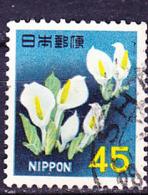 Japan - Weiße Scheinkalla (Lysichiton Camtchatkensis) (MiNr: 935) 1967 - Gest Used Obl - 1926-89 Emperor Hirohito (Showa Era)