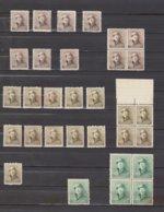 Belgique - Petit Lot 165 - 166 -167 Tous ** Dont Blocs De 4 - 1919-1920 Roi Casqué