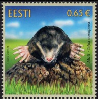 Estonia - 2019 - Estonian Fauna - The Mole - Mint Stamp - Estonia