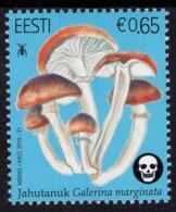 Estonia - 2019 - Estonian Mushrooms - Funeral Bell - Mint Stamp - Estland