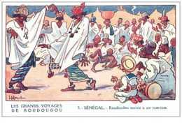 Chromos. N° 34184 .senegal.gervese.la Fhosphatine Falières.les Grand Voyage De Roudoudou..publicité. 7  X 10.5 Cm - Trade Cards