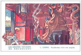 Chromos. N° 34186.chine.gervese.la Fhosphatine Falières.les Grand Voyage De Roudoudou..publicité. 7  X 10.5 Cm - Trade Cards