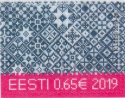 Estonia - 2019 - Christmas - Mint Stamp On Flocked Paper - Estland