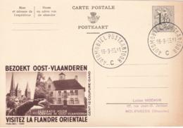 Entier Postal Publibel - N° 1349 Flandre Orientale - 1955 - FR-NL - Interi Postali