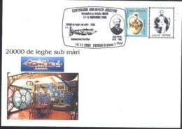 Centenaire Bibliotheque AMAN  Jules VERNE  20.000 Lieues Sous Les Mers - NAUTILUS  Cachet Special  Roumanie/Romania 2008 - Sous-marins