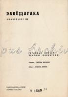 Turkey - 1973 - Concert Program: Darüşşafaka Concerts - Istanbul State Symphony Orchestra - Directed By Mircea Bacarab - Programs
