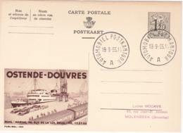 Entier Postal Publibel - N° 1342  - Ostende-Douvres - 1955 - FR-NL - Stamped Stationery