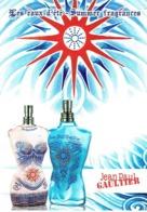 """Carte Postale Glacée Jean-Paul GAULTIER  """"LES EAUX D'ETE - SUMMER FRAGRANCES""""  - Perfume Card USA - Cartes Parfumées"""