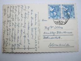 1954 , Tarjeta Postal  A  Alemania - 1931-Hoy: 2ª República - ... Juan Carlos I