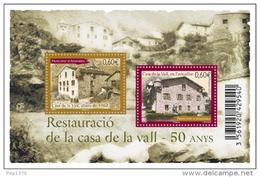 ANDORRA FRANCESA 2012 - RESTAURACION DE LA CASA DE LA VALL - 1 BLOCK  - YVERT Nº 721 - Andorra Francesa