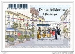 ANDORRA FRANCESA 2012 - DANZA DE LA MARRATXA - PLAZA DE SANT JULIA DE LORIA - 1 BLOCK - French Andorra