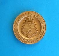 BRAZILIAN NAVY - MARINHA DO BRASIL - NAVIO ESCOLA BRASIL - II Viagem ... Medal Brazil Marina Marine Warship Ship - Medailles & Militaire Decoraties