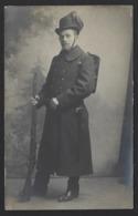 BELGISCHE SOLDAAT * SOLDAT BELGE * INFANTERIE * GEWEER * FUSIL * FOTOKAART * CARTE PHOTO * FOTO A. VERBEECK ANTWERPEN - Guerre 1914-18