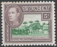 St Vincent. 1949-52 KGVI. New Currency. 5c MH. SG 168 - St.Vincent (...-1979)
