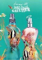 """Carte Postale Jean-Paul GAULTIER  """"LES EAUX D'ETE"""" - Cartes Parfumées"""