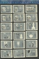 CONQUEST OF PACE COSMONAUTES GAGARIN TERESHKOVA TITOV POPOVICH NIKOLAEV VOSTOK  LUNA SPUTNIK Matchbox Labels USSR 1966 - Matchbox Labels