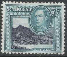 St Vincent. 1949-52 KGVI. New Currency. 7c MH. SG 170 - St.Vincent (...-1979)