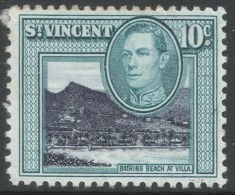 St Vincent. 1949-52 KGVI. New Currency. 10c MH. SG 17a - St.Vincent (...-1979)