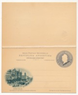 """ARGENTINE - Entier Postal / Carte Lettre Avec Réponse Payée 6 Centavos """"MUESTRA"""" - Avenida Callao - Ganzsachen"""