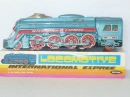 VINTAGE ! RARE ! China 60s' Tin Toy Longmotive International Express With Sound (MF-804) - Toy Memorabilia