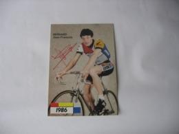 Cyclisme - Autographe - Carte Signée Jean-François Bernard - Cyclisme